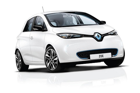 Exterior front driver-side view of Renault ZOE