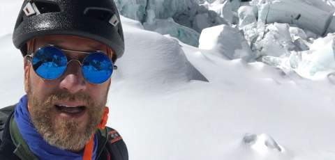 A selfie of Ben up Mt Everest