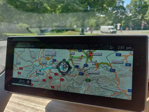 The satnav in the i3