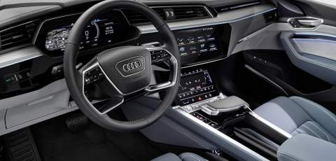 Interior of the Audi e-tron Sportback