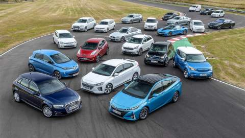 A range of electric vehicles