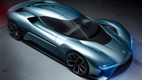 The NIO EP9 top side view