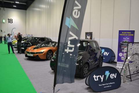The Try EV stand at The London Motor & Tech show