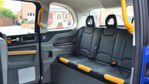 LEVC TX e-City rear passenger seats