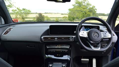 Mercedes-Benz EQC dash view