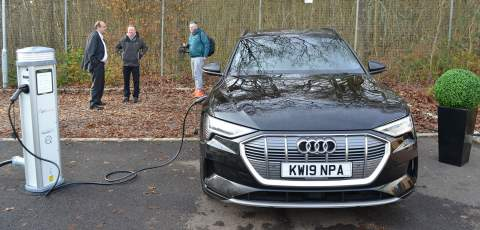 Audi e-tron charging from an H-Power charger