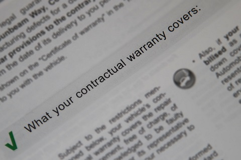 What your contractual warranty covers