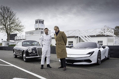 Pininfarina designs aired by Lord March (right) and Nick Heidfeld (left) at Goodwood