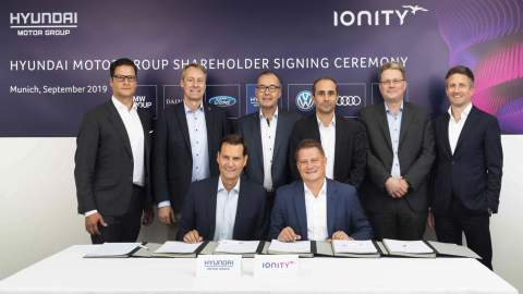 Hyundai and Kia invest in the IONITY Europe-wide charging network