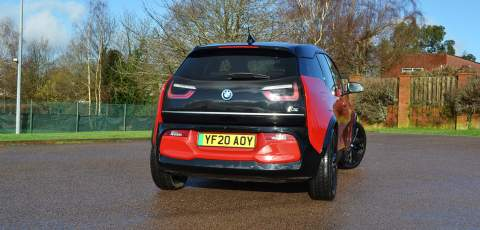 BMW i3s rear three-quarter