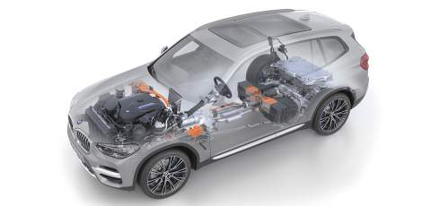 BMW X3 xDrive30e engine powertrain
