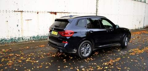 BMW X3 xDrive30e rear three-quarter