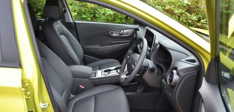 Hyundai Electric Kona front seats