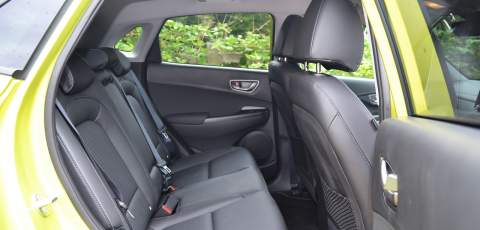 Hyundai Electric Kona rear seats