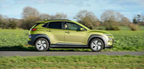 Hyundai Electric Kona 64kW driving