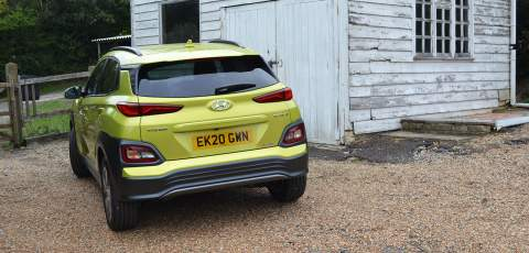 Hyundai Electric Kona rear three quarter