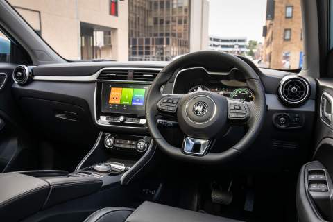 MG ZS interior view
