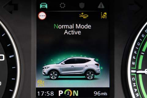 Screen showing normal driving mode