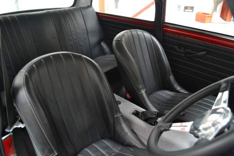 The seats of the Mini
