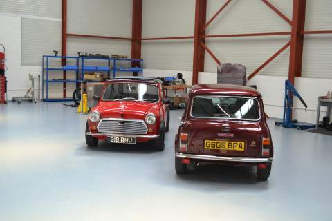 Front and Rear view of the Mini's
