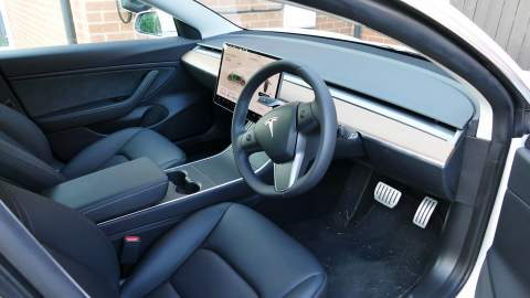 Interior of the Tesla Model 3