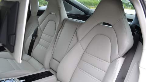 Rear seats of the Panamera