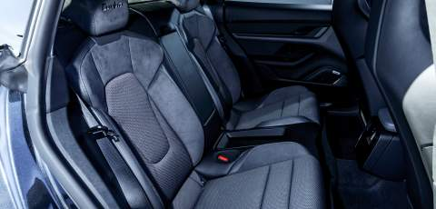 Porsche Taycan Turbo rear seats