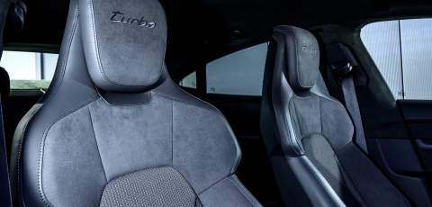Porsche Taycan Turbo front seats