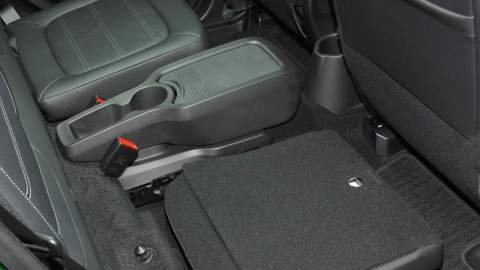 Rear seats down in ForFour
