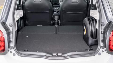 Boot space with seats down in the ForFour