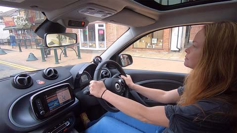 Louise driving the ForFour