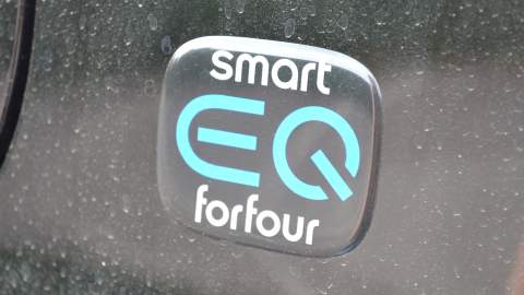The Smart EQ ForFour badge