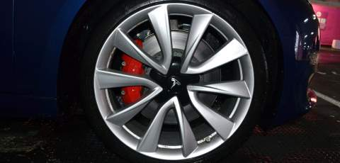 Tesla Model 3 Performance four piston calipers