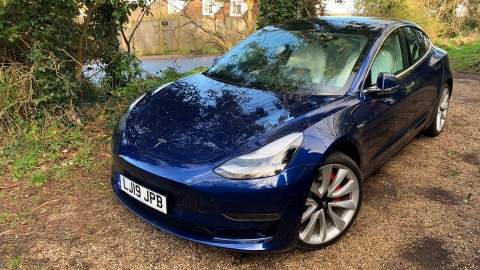 Tesla Model 3 Performance Deep Blue Metallic
