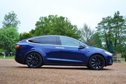 Side view of the Model X