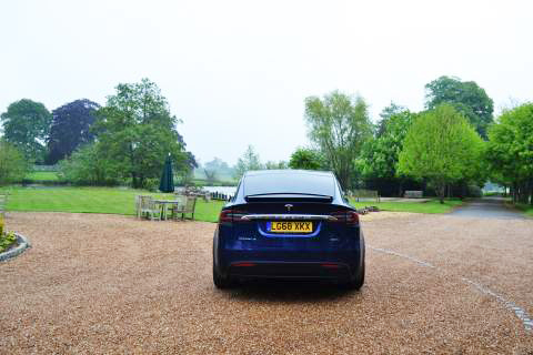 Rear view of the Model X