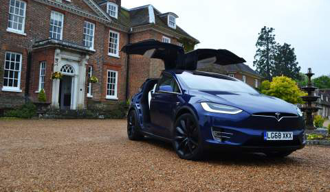 Front view of the Model X