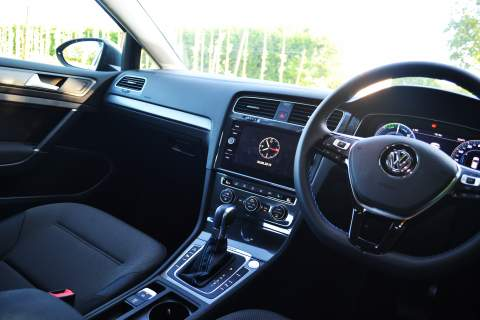 Rear seats in the Volkswagen e-Golf